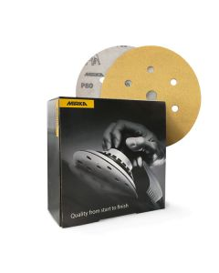 Mirka Gold Sanding Discs 150mm (7 Holes)
