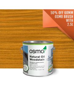 Osmo Natural Oil Woodstain Offer Free Brush