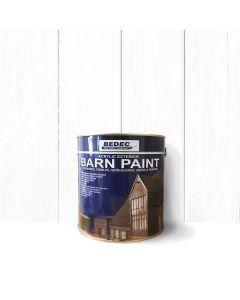 Bedec Barn Paint - Matt - White - 2.5L